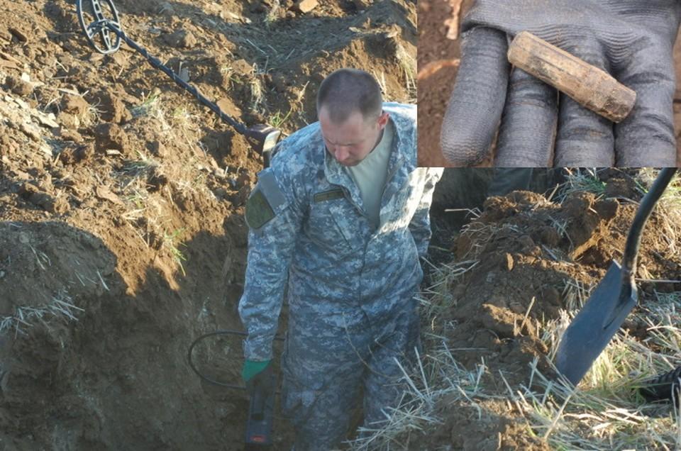 """Поисковики нашли медальон солдата, который погиб больше 70 лет назад. Фото: """"Миус-Фронт"""""""
