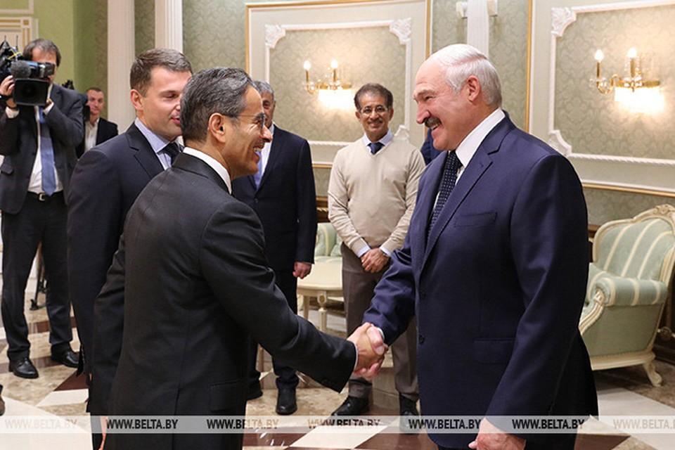 В Минске Мухаммед Али аль-Аббар встретился с Александром Лукашенко. Фото: БелТА.