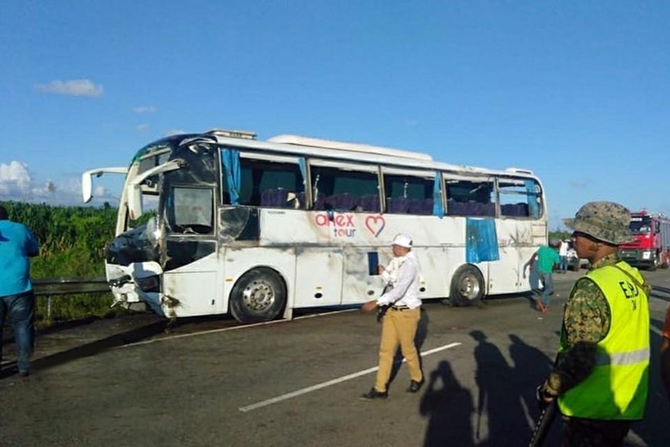Cтрашная авария произошла на пути из Пунта-Каны в аэропорт Ла Романа