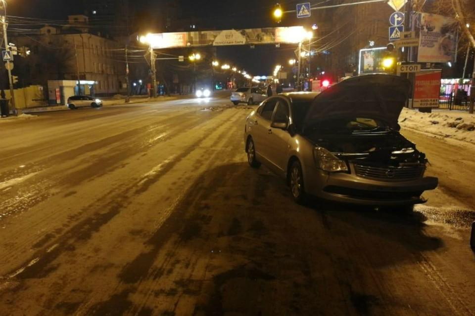 Пьяная автолюбительница устроила аварию на перекрестке в Хабаровске