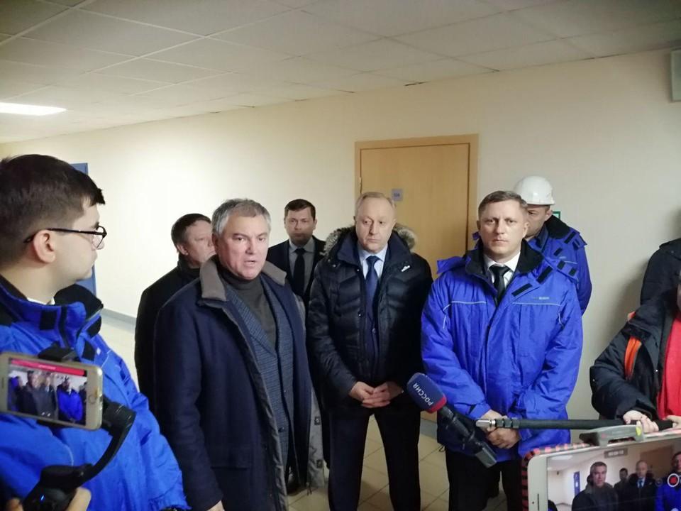 Вячеслав Володин на металлургическом заводе в Балаково