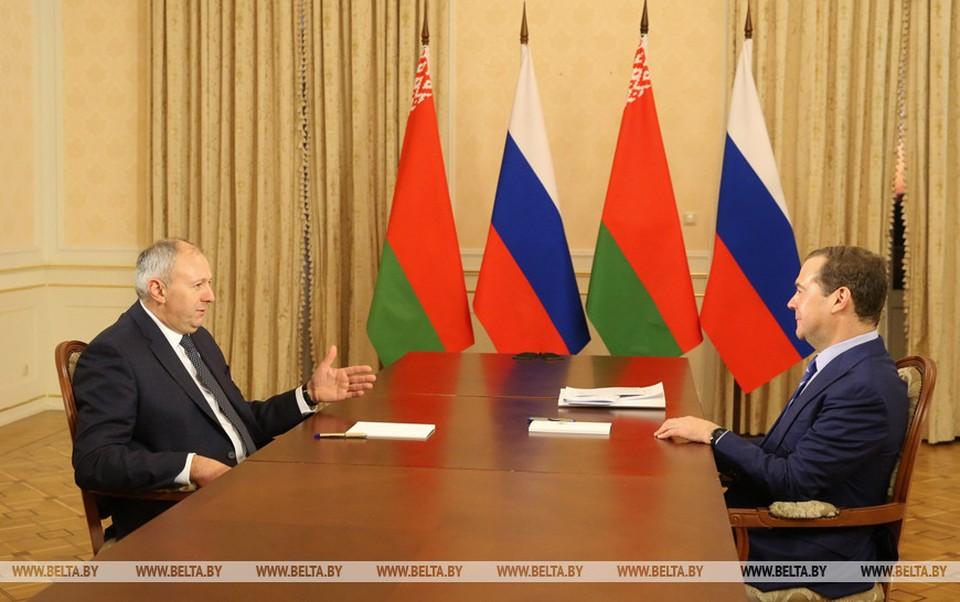 "Румас и Медведев подписали индикативный баланс на поставки нефти на 2020 год без ""перетаможки"". Фото: belta.by"