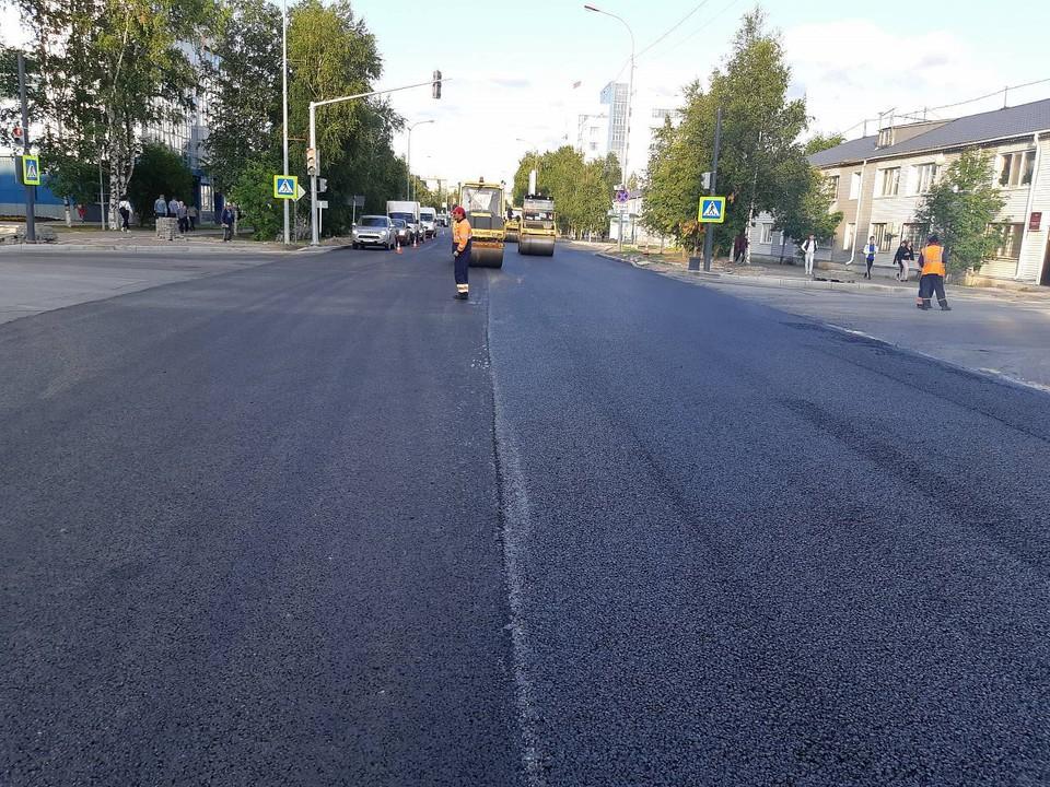 В Ханты-Мансийске перевыполнили план по приведению магистралей города в нормативное состояние. Фото с сайта admhmansy.ru