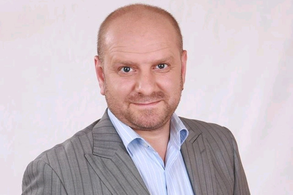 Телеведущий Григорий Шевчук.