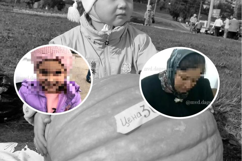 5-летняя девочка и купившая ее мама. Фото: пресс-служба МВД по Дагестану