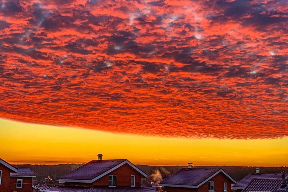 Фантастические облака: ТОП-10 удивительных снимков рассвета в Нижнем Новгороде. ФОТО: Alexandr Skycam