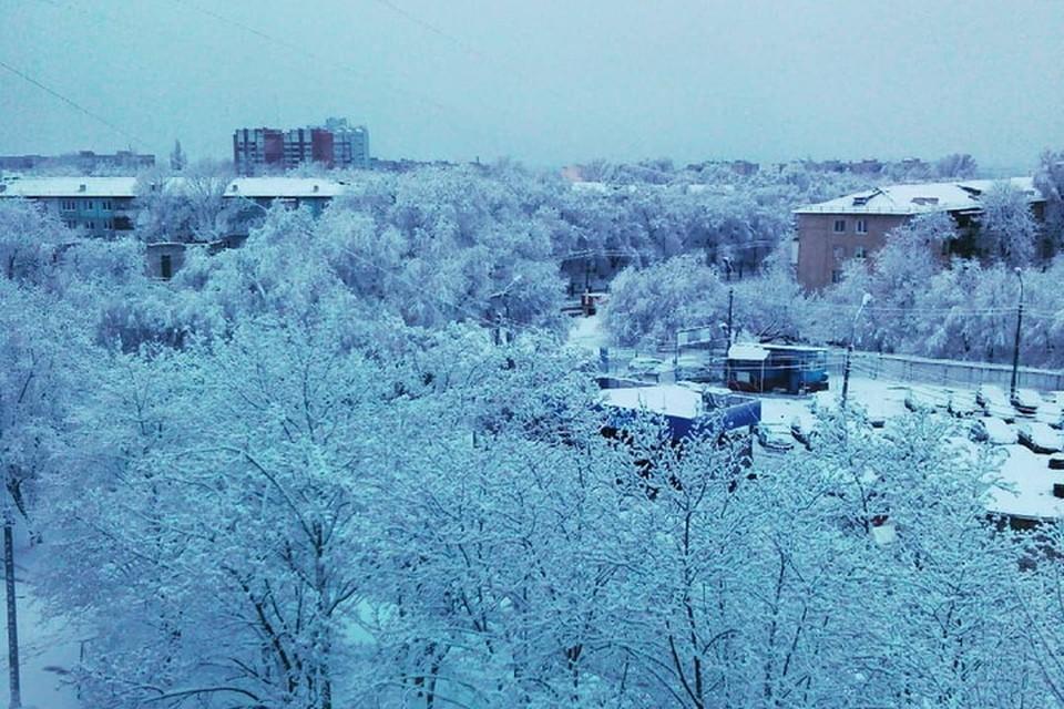 В Луганске выпавший снег будет постепенно таять. Фото: instagram.com/dmitriylipko