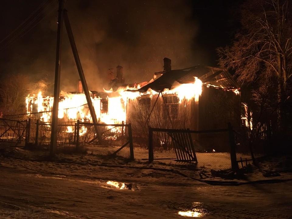 Пожар в Метенино