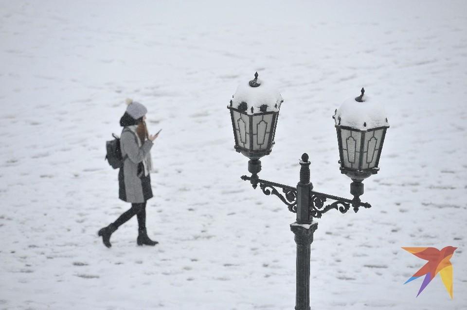 Белая красота: рязанец на дрон снял снегопад в самом центре города.