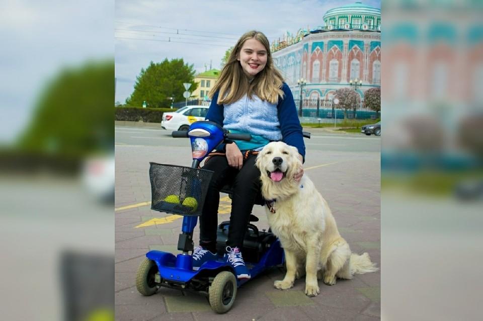 Уже весной Ксения и ее верный пес Дрим возобновят уборку улиц. Фото: личный архив героини публикации