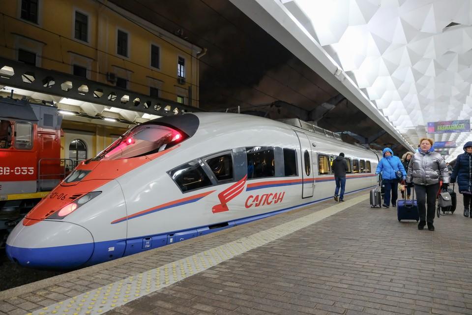 """Только за 2019 год """"Сапсаны"""" перевезли больше пяти миллионов пассажиров."""