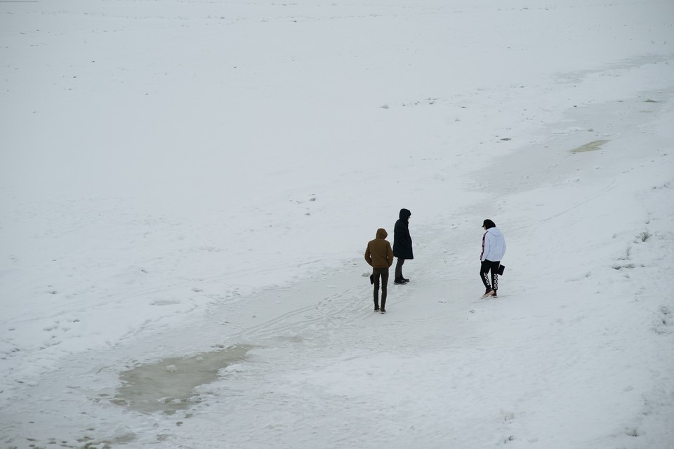 В Самаре Волга даже и не замерзла до конца