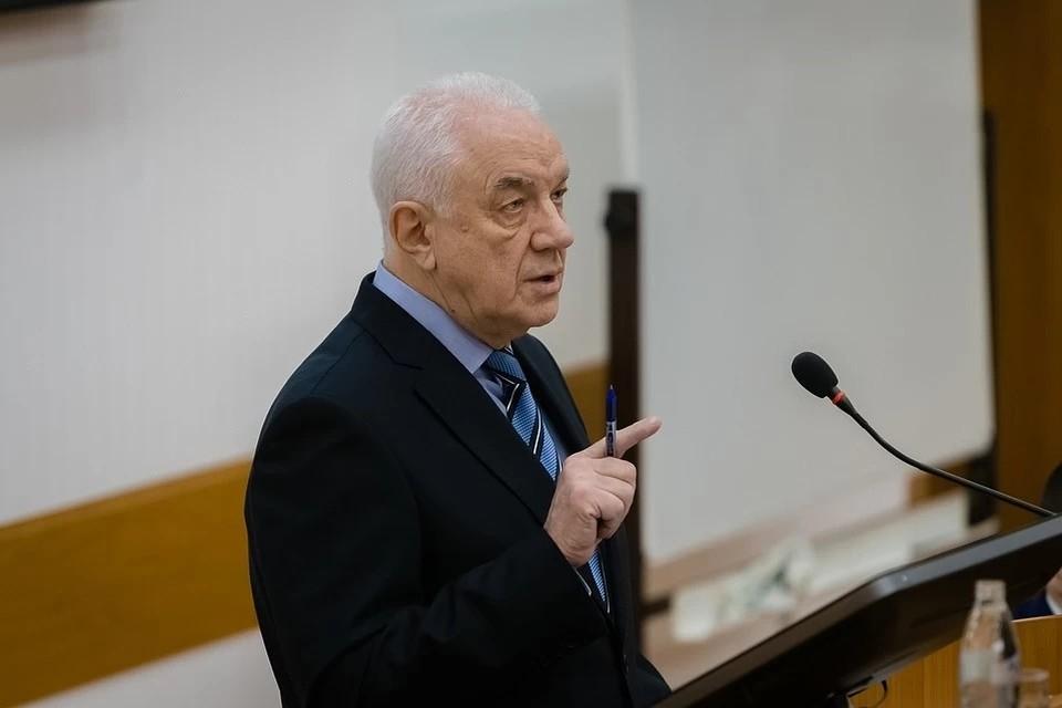 Николай Цхадая во время выборов ректора УГТУ. Источник: фотобанк Центра СМИ УГТУ