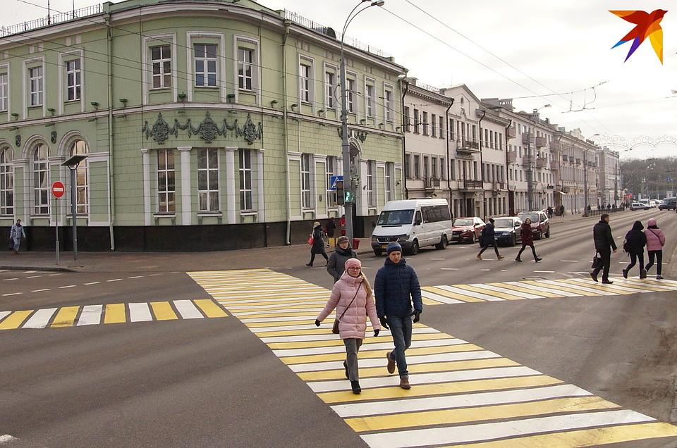 Диагональный пешеходный переход впервые появился в Гомеле