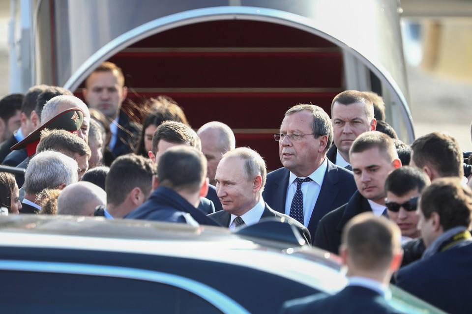 Путин в израильской аэропорту