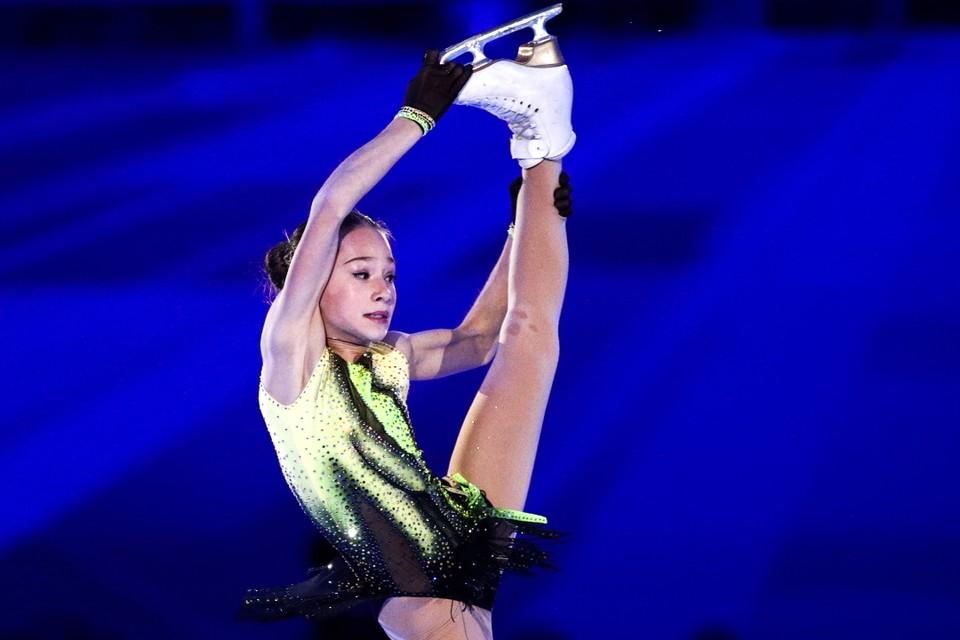 Софья Акатьева - третья после короткой программы. В произвольной она хочет исполнить прыжок в четыре оборота. Фото: Сергей Бобылев/ТАСС