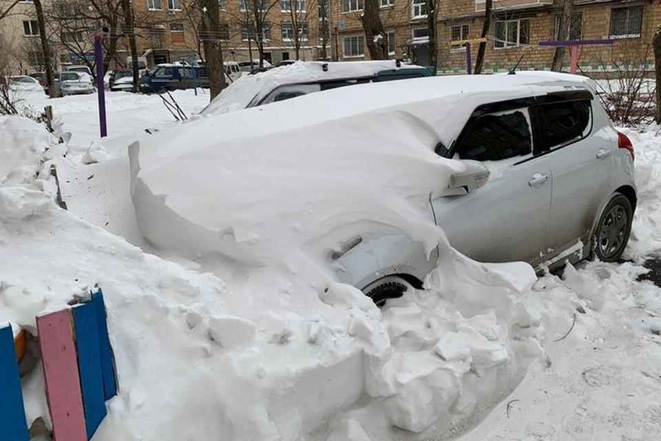 На Владивосток обрушился мощный циклон
