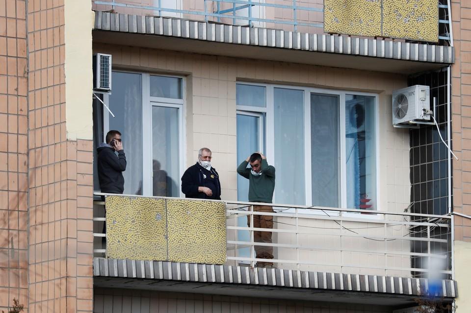 Постояльцы санатория, в котором разместили эвакуированных из Уханя украинцев