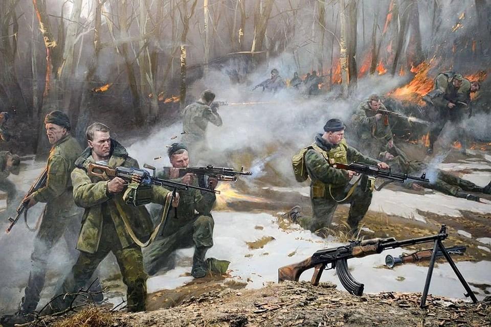 Диорама с изображением подвига легендарной 6‑й роты в Аргунском ущелье. Фото: instagram.com/grekovstudio/