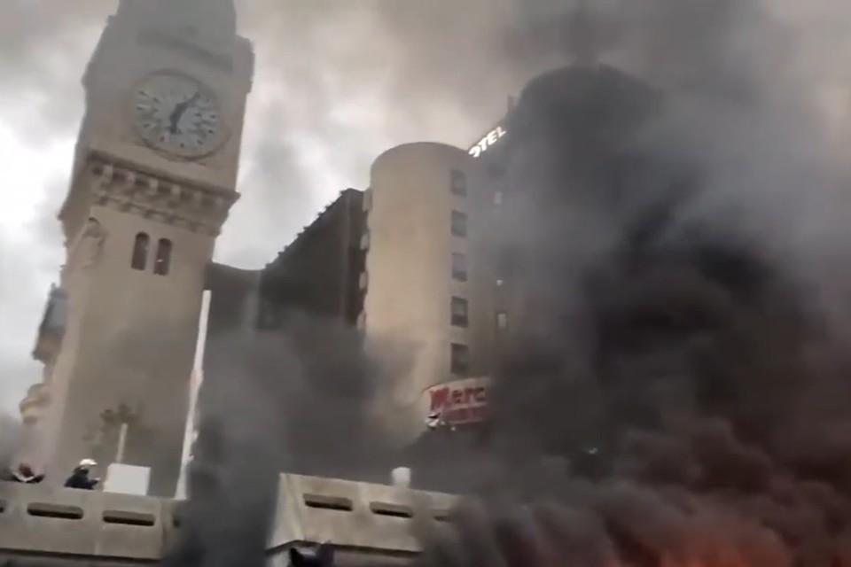 Пожар в районе Лионского вокзала