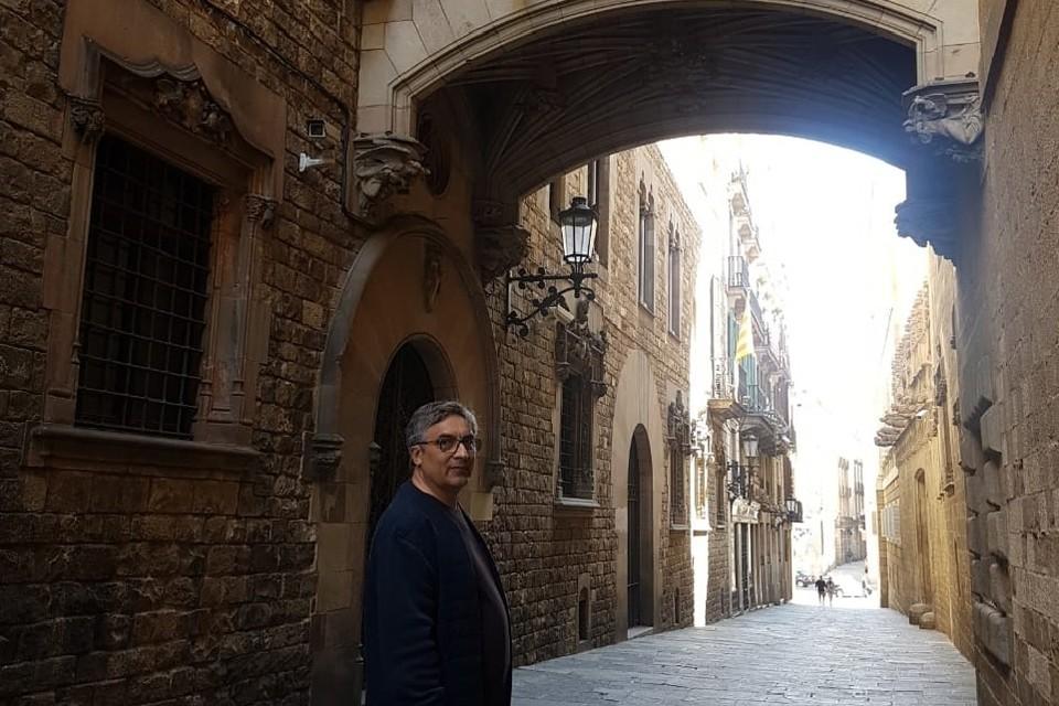 Барнаульский врач Александр Чанцев на отдыхе в Испании