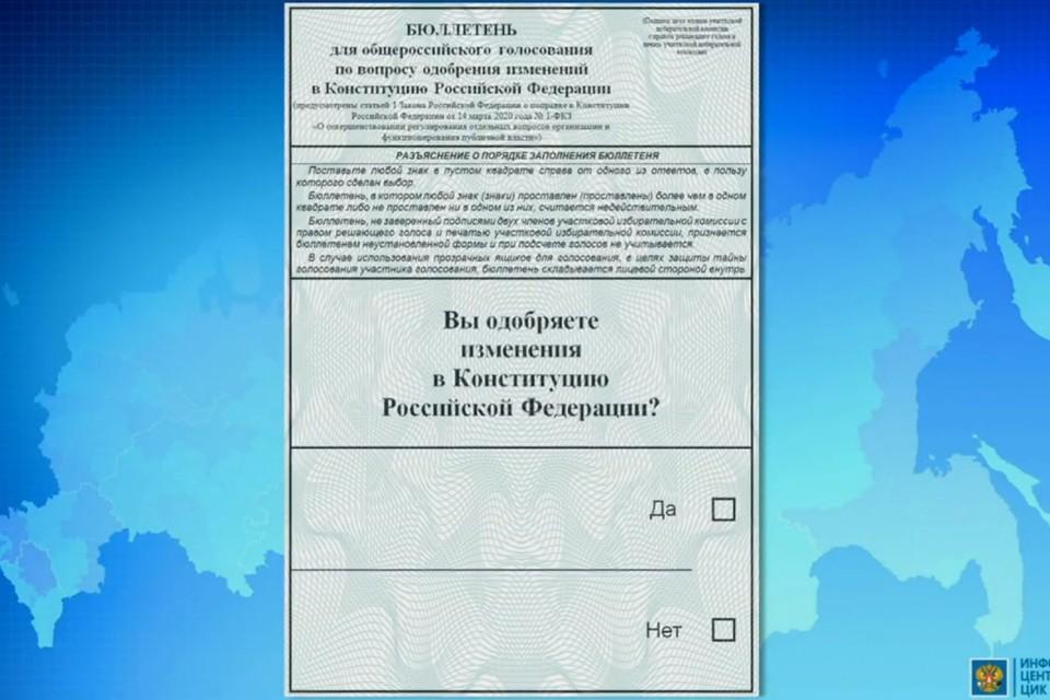 В пятницу 20 марта на заседании ЦИК были представлены варианты бюллетеней будущего голосования по поправке в Конституцию. Фото: ЦИК РФ