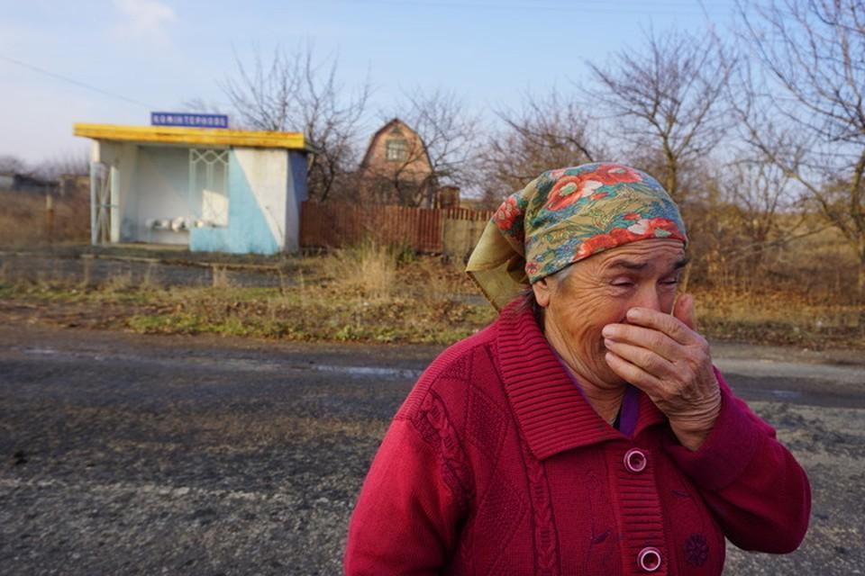 Жительница разрушенного Украиной села на юге ДНР.