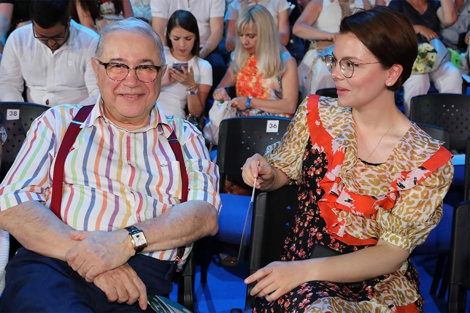Евгений Петросян и Татьяна Брухунова в августе 2019 г.