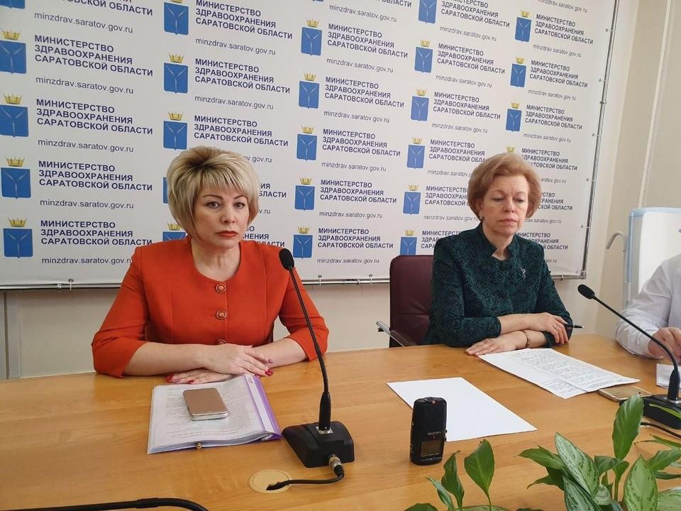 Татьяна Гаранина и глава минздрава Наталья Мазина