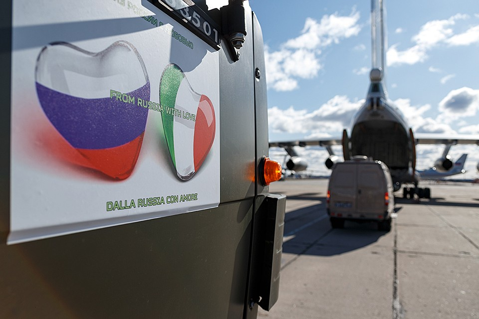 Прибытие в Италию 14 российских военно-транспортных самолетов Ил-76 поставила на уши всю Европу