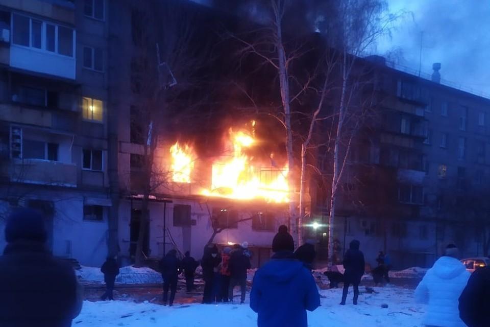 Взрыв газа произошел в доме на улице Доменщиков, 19. Фото: vk.com/«Черное&Белое Магнитогорск»