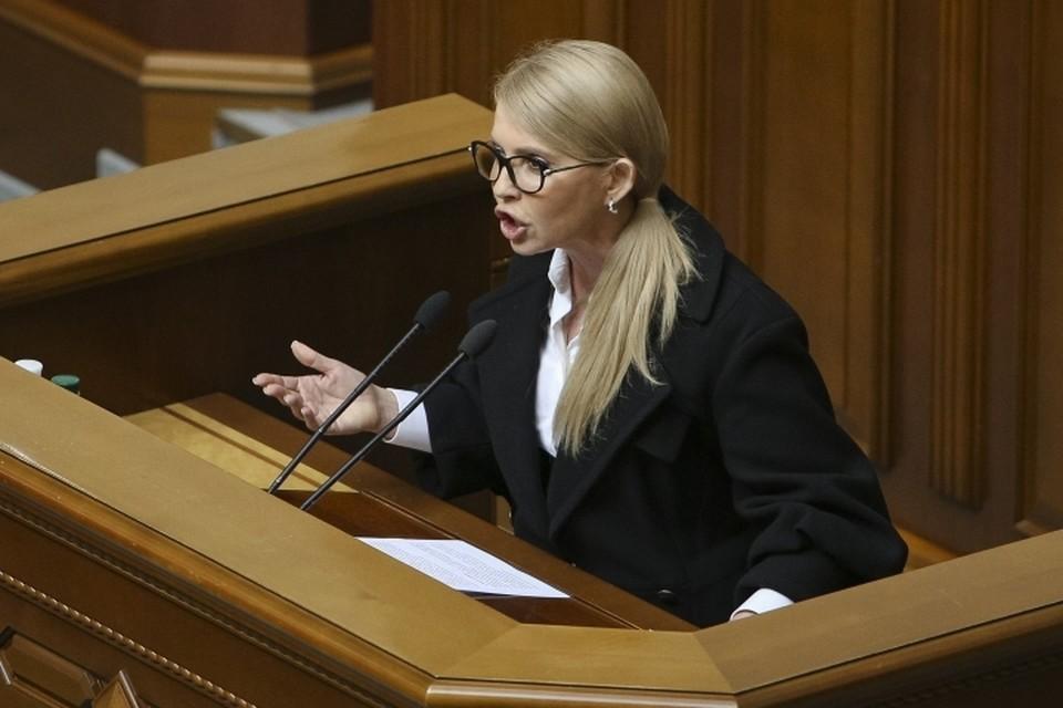 Лидер оппозиционной партии «Батькивщина» Юлия Тимошенко