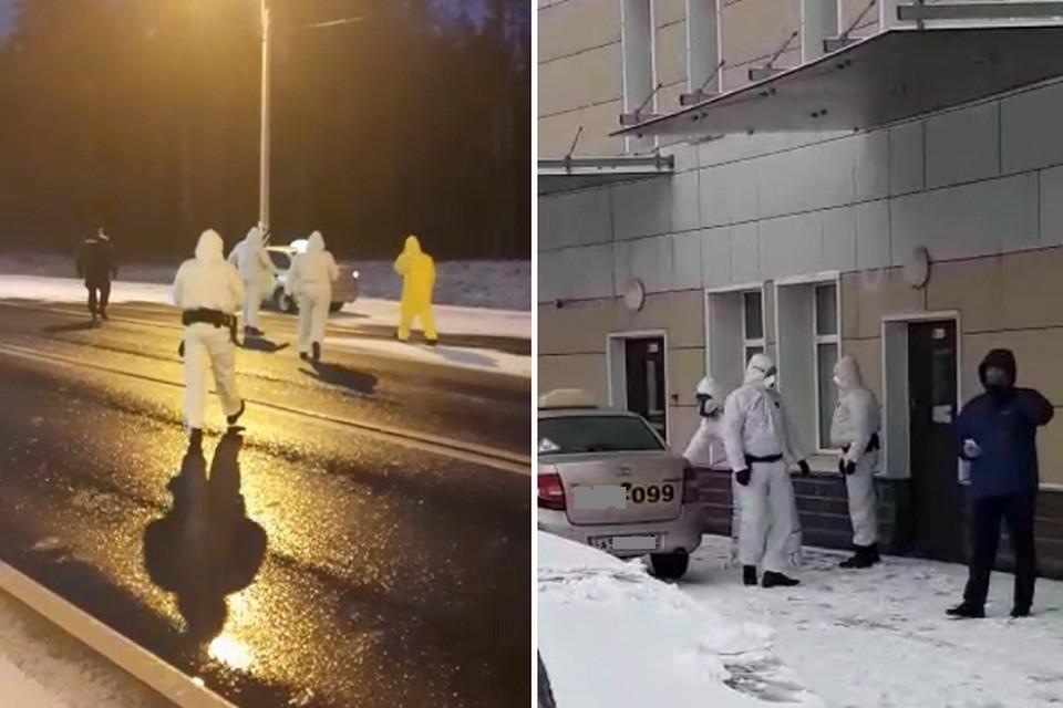 В Луге поймали сбежавшую петербурженку с коронавирусом. Фото: кадр с видео ГУ МВД по СПб и ЛО