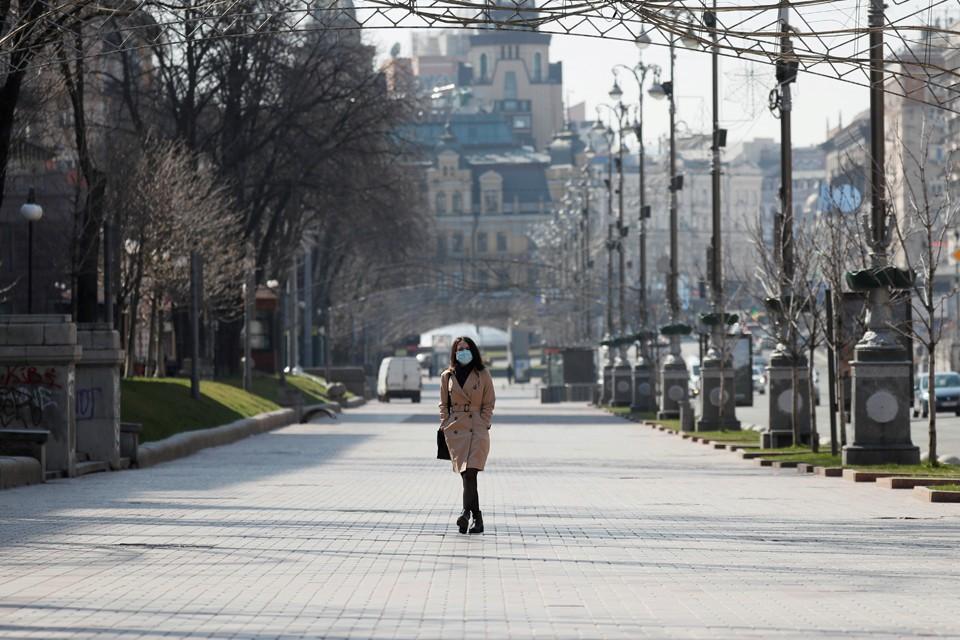 Центр Киева обезлюдел
