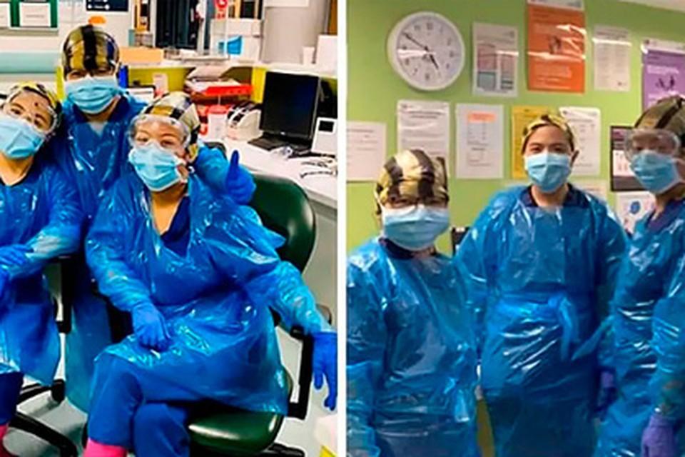 Работавшие в мусорных пакетах британские медики заразились коронавирусом. Фото: telegraph.co.uk
