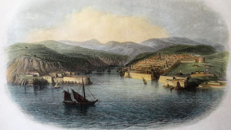 Севастополь начала XIX века. Севастопольская бухта делится на две части: Северную и Южную, но не многие знали о существовании и специальной Карантинной бухты