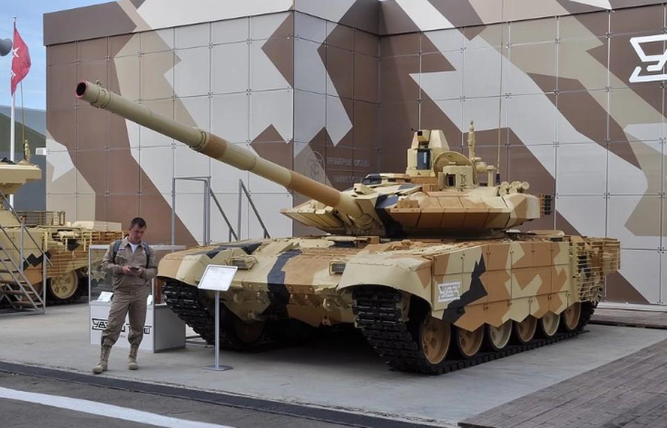 Танк Т-90МС на международном военно-техническом форуме `Армия-2019`