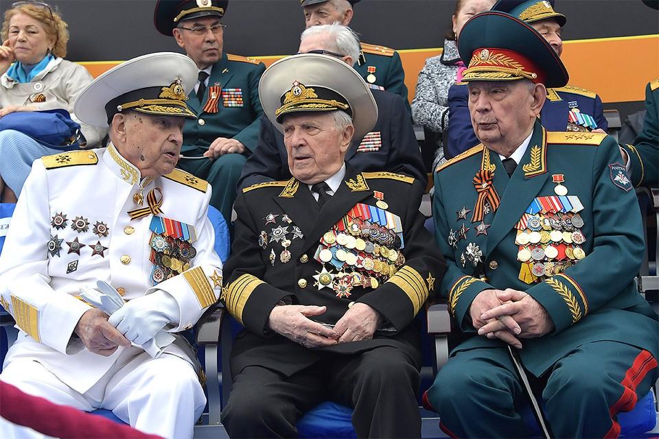 Ветераны Великой Отечественной перед началом Парада Победы, май 2019 г.
