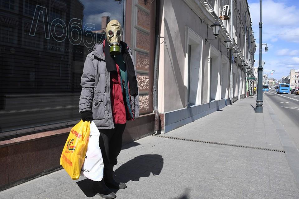 На пустынных московских улицах в дни пандемии.