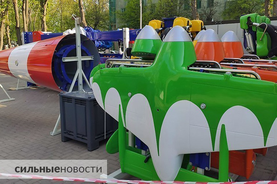 Фотофакт: в Гомеле устанавливают аттракцион за 585 тысяч евро. Фото: gomel.today.