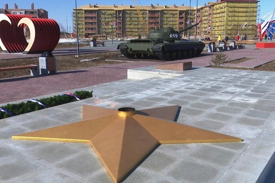 В Уренгое обновили мемориал Вечного огня Фото: puradm.ru
