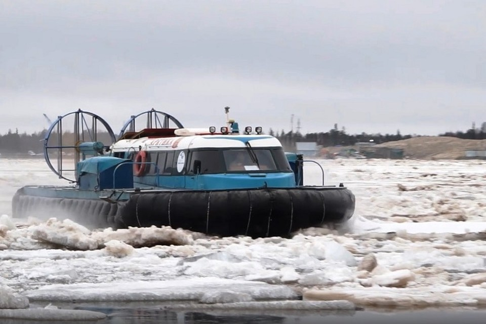 В Уренгое ледоход прошел в штатном режиме Фото: puradm.ru