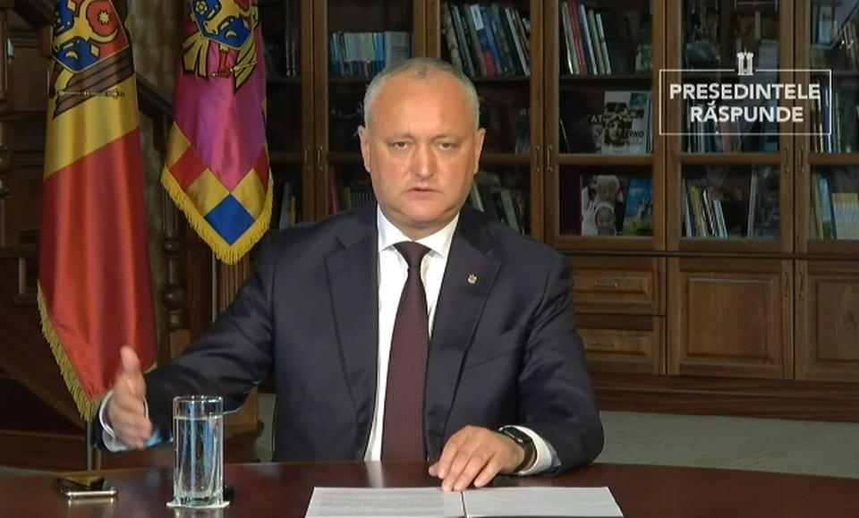 Игорь Додон в ходе передачи «Президент отвечает» рассказал о попытках узурпации власти и принятии закона, запрещающего «миграцию в парламенте».