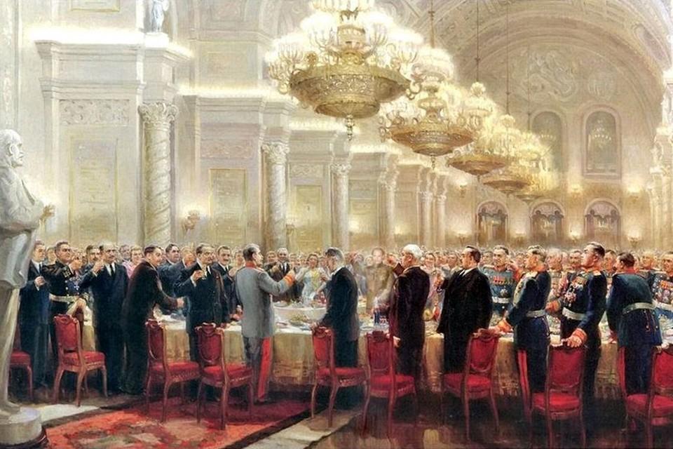 Празднование Победы на официальном уровне началось 24 мая 1945 года, когда прошел государственные прием в честь советских полководцев