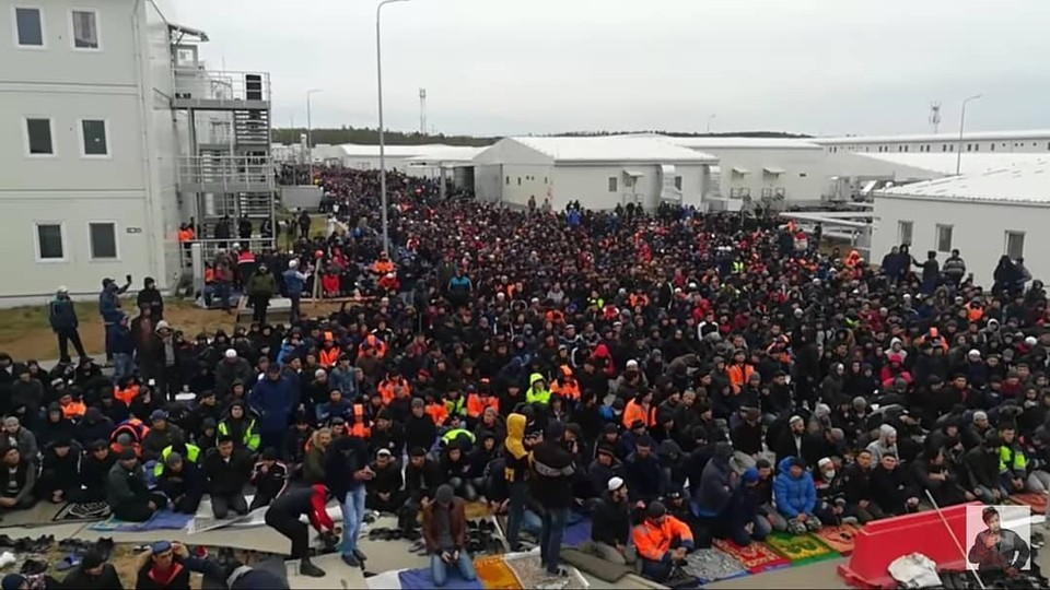 В мероприятии принимали участие работники, исповедующие ислам, которые находятся на в течение нескольких месяцев. Фото: https://www.instagram.com/svobodniy_4.0/