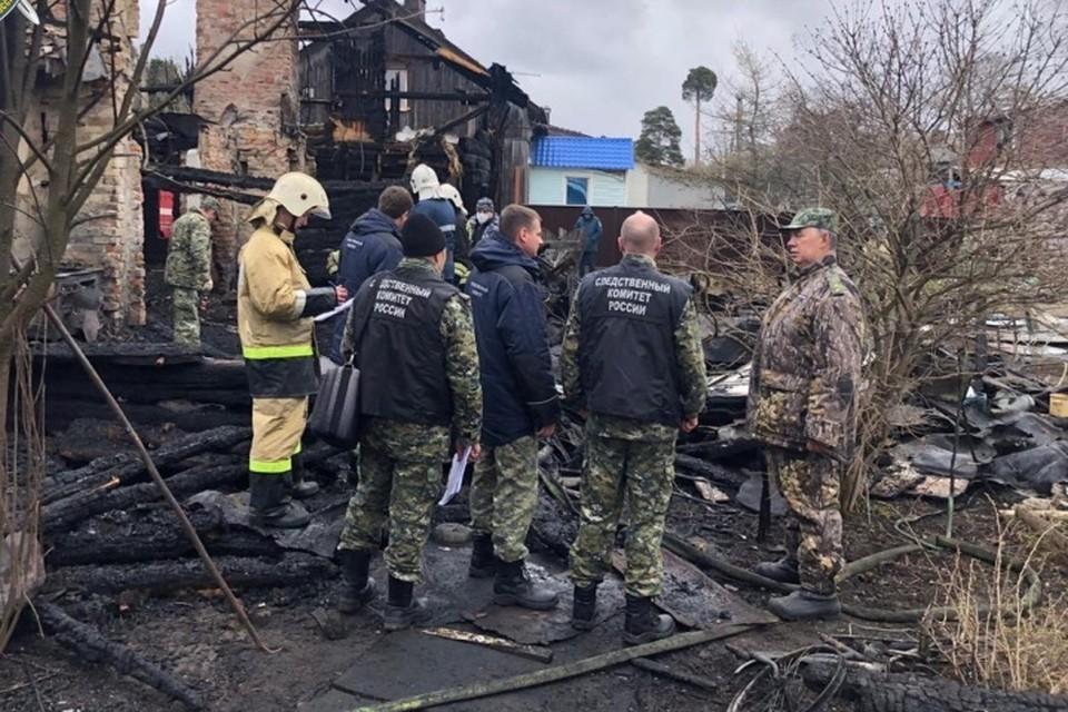 В пожаре погибли шестеро детей Фото: СУ СКР по ЛО