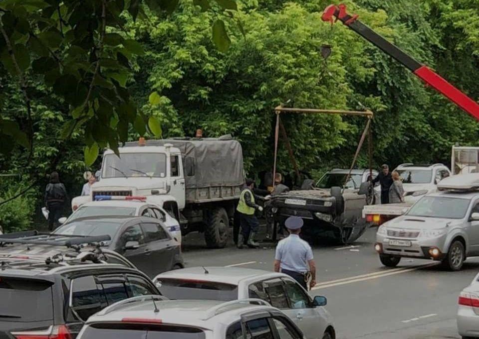 Массовая авария случилась во Владивостоке