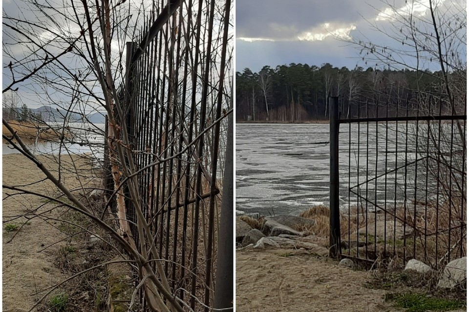 Предприниматели установили забор возле воды, чего по закону делать нельзя. Фото: Гражданский патруль