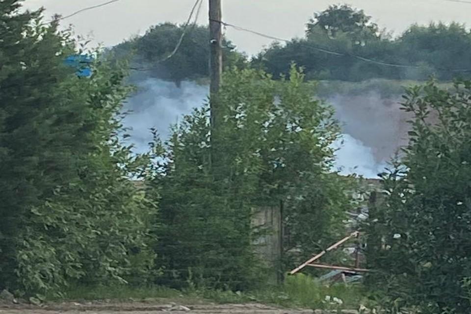 Полигон в Гаврилов-Ямском районе тлеет до сих пор. ФОТО читателя КП-Ярославль