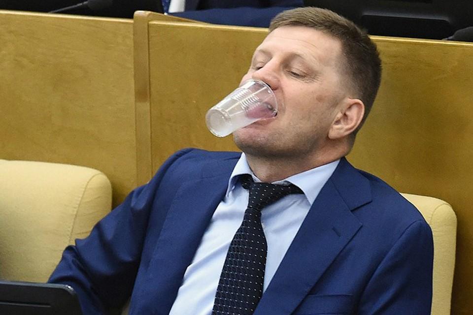Сергей Фургал на заседании Государственной думы в сентябре 2017-го. Фото: Дмитрий Духанин/Коммерсантъ